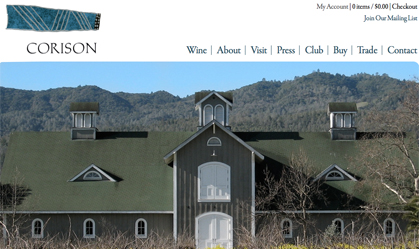 Corison Winery Site Rebuild