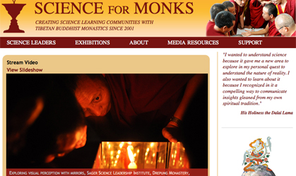 Science for Monks Educational & Academic Website